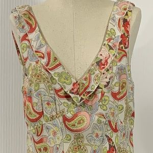 CAbi Paisley Floral Sleeveless Summer Dress